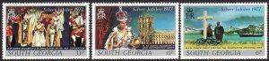 1977 South Georgia 25th Anniversary QE complete set MNH Sc# 48 / 50 CV $1.45