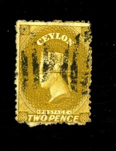 Ceylon #49 Used Fine Cat $260
