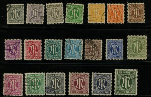 GERMANY 3n1-20 USED 741.00 CAT VAL MICHEL 16-35  1000 EURO CAT  60 PF IS MNH
