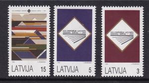 Latvia   #349-351    MNH  1993  National songfestival