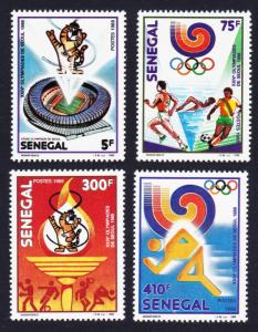 Senegal Olympic Games Seoul 4v 1988 MNH SG#956-959 SC#786-789