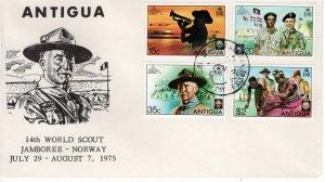 Antigua 1975 Sc 383-6 Commemorative Perforate FDC-1