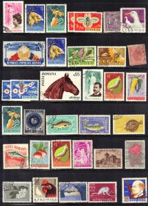ROMANIA STAMP LOT #2B  CTO & USED SEE SCAN