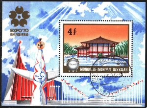 Mongolia. 1970. bl21. Osaka World Exhibition. USED.