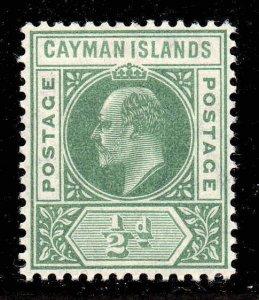 Cayman Islands 1905 EDVII ½d wmk MCCA SG 8 mint