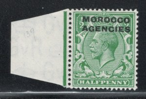 Great Britain Offices Morocco 1925 Overprint 1/2p Scott # 220 MH