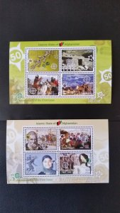 50th anniversary of EUROPA stamps - Afghanistan - complete 2xBl perf. ** MNH