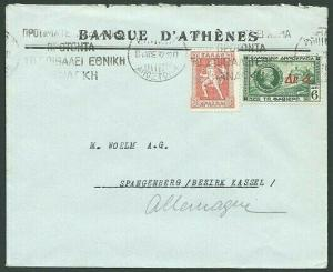 GREECE 1932 cover Athens to Germany........................................39632