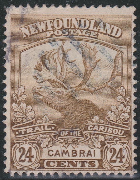 Newfoundland - 1919 24c Caribou used #125