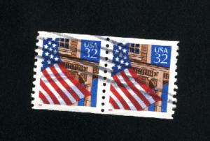 USA # 2913  used pair 1995-97 PD .12