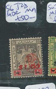 MALAYA JAPANESE OCCUPATION KELANTAN (P2405B) SG J28 SIGN ROWELL MOG