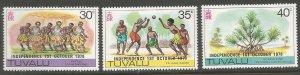TUVALU  89-91  HINGED,  INDEPENDENCE, OCT 1, 1978