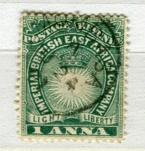 BRITISH KUT; ; East Africa Company 1890 classic early used 1a. value