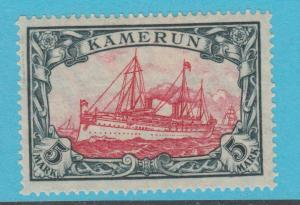 GERMAN COLONIES CAMEROUN 25 LARGE YACHT MINT HINGED OG NO FAULTS VERY FINE