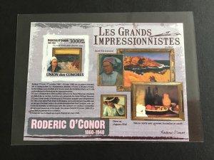 Unión Des Comores Impressionists  Mint Never Hinged Imperf Stamp  Sheet R38706