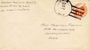 United States Ships 6c Monoplane Air Envelope 1945 U.S. Navy U.S.S. SC 739 Ty...