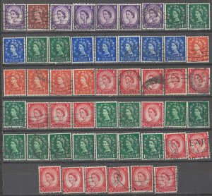 COLLECTION LOT # 3850 GB 51 STAMPS INVERTED WTMK 1952+ SWCV+$33