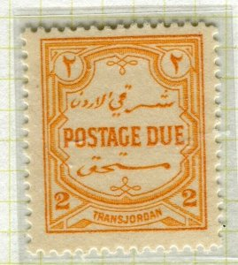 TRANSJORDAN; 1929 April early Postage Due issue fine Mint hinged 2m. value