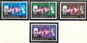 Bahamas #224-227 Churchill Memorial  (MNH) CV$2.30