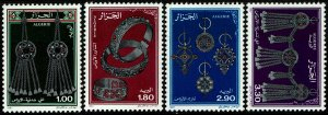 Algeria #831-34  MNH - Jewelry from Aures (1987)