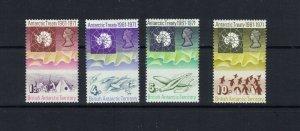 BRITISH ANTARCTIC TERRITORY - 1971 ANTARCTIC TREATY - SCOTT 39 TO 42 - MH