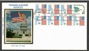 US # 1623c Flag over Capitol Booklet Pane Colorano Silk FDC - I Combine S/H