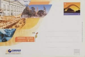 A) 2006, ARGENTINA, HOPE, POSTAL STATIONARY, 150 YEARS ORGANIZED AGRICULTURAL CO