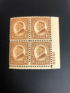 633 Plate Block Superb Mint Never Hinged