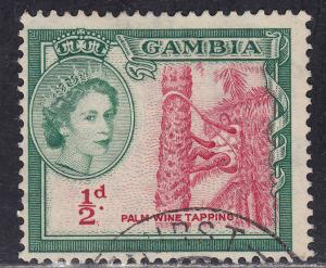 Gambia 153 Used 1953 Palm Wine Tapping