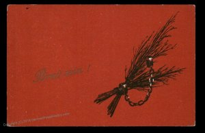 Austria 1925 Classic Krampus Devil Christmas Card USED 95269