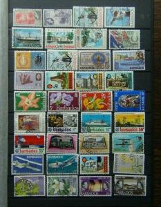 Barbados 1953 - 1973 Range of Commemorative issues with high values Used