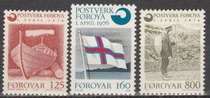 Faroe Is #21-3  MNH  CV $4.75 (S719)