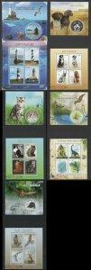 PE225,235-238 2013 MALI DINOSAURS BIRDS OWLS CATS & DOGS FAUNA !!! 5KB+5BL MNH