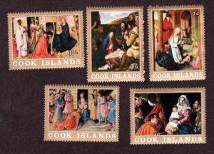 Cook Islands MNH 170-4 Nativity Scenes 1966