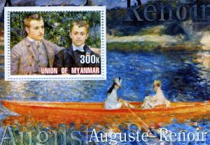 Union of Myanmar 2001 Renoir Painting s/s Perforated mnh.vf