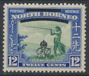 North Borneo  SG 342 SC# 230 MH    OPT GR Crown - See scans