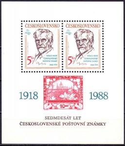 Czechoslovakia. 1988. bl87. Painter. MNH.