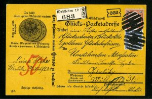 Germany Stamps Pristine Twice Cancelled Postcard