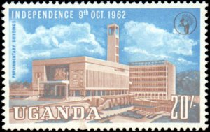 Uganda  #83-94, Complete Set(12), 1962, Hinged