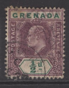 GRENADA SG57 1902 ½d DULL PURPLE & GREEN USED