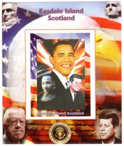 Easdale Island Scotland 2008 BARACK OBAMA/KENNEDY/MARTIN LUTHER KING JR. SS (1)
