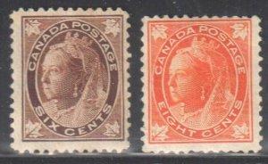 Canada #71-72 Mint F-VF H C$480.00