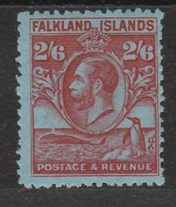 FALKLAND ISLANDS 1929 KGV WHALE AND PENGUIN 2/6