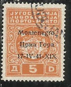OCCUPAZIONI ITALIANE MONTENEGRO 1941 SEGNATASSE TASSE POSTAGE DUE TAXE 5 D US...