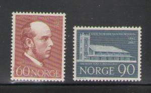 Norway Sc 508-9 1967 Santal Mission stamps mint NH