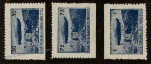 Germany Spain 1929 Barcelona Graf Zeppelin Set MNH Flight Label Vignette C 93702