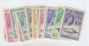 TRISTAN DA CUNHA # 28-41 VF-MVLH QE11 ISSUES TO 10sh CAT VALUE $76.25