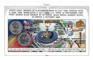 Cook Islands 1988 Olympics Winners S/S MNH C1
