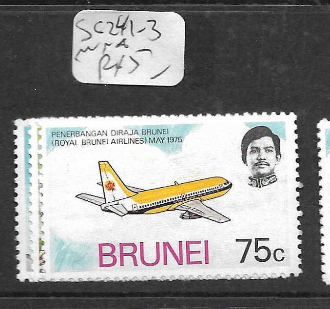 BRUNEI (P0104B)  AIRPLANE SG 241-3 MNH