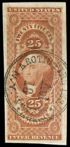 momen: US Stamps #R46a Revenue Used Handstamp
